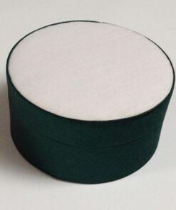 Satinæske lille rund