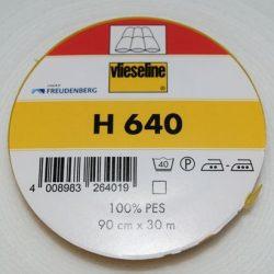 Volumenvlies m. lim på en side - H640