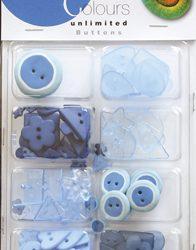 Blå Knapper Mix