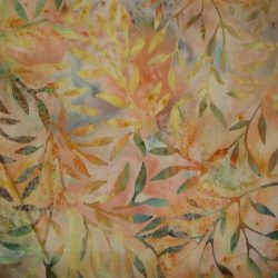 6090 laks med blade bali batik patchworkstof