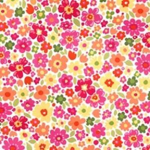 6418 Blomster i pink og gul