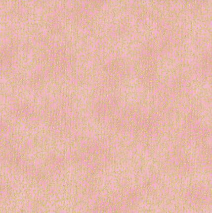 6607 Lyserød m. guldmønster