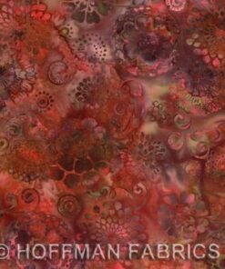 Rød og Brun Bali/Batik