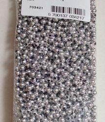 Voksperler, 4 mm - Sølv