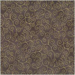 Brun/grå m. guld snirkler - 6734