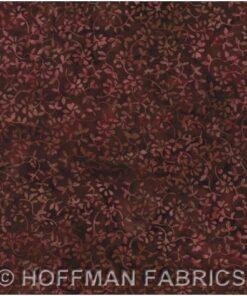 Bordeaux m. blomster - Bali/Batik