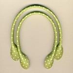Vårgrøn med prikker 40 cm Taskehåndtag