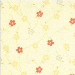 6397 Lysgul m. blomster