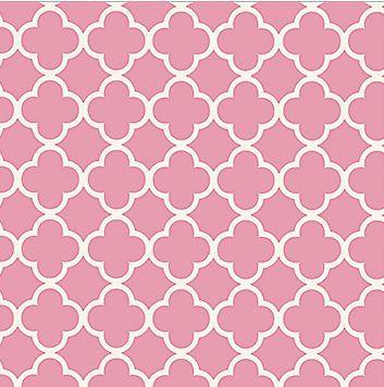Gl. Rosa m. hvidt mønster