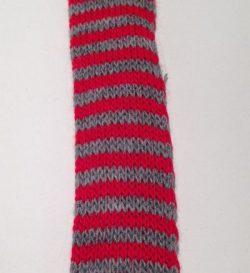 Rød/Grå Tubestrik 3 cm
