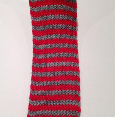 Rød/Grå Tubestrik 4 cm