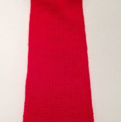 Rød Tubestrik 5 cm
