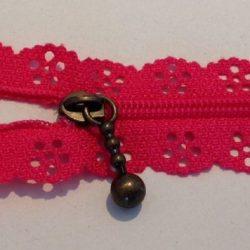 Pink blondelynlås 20 cm