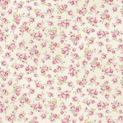 Råhvid m. små pink roser