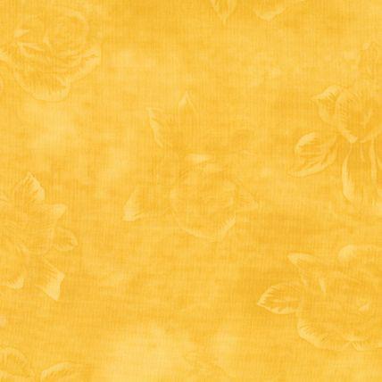 Kold gul patchworkstof med roser