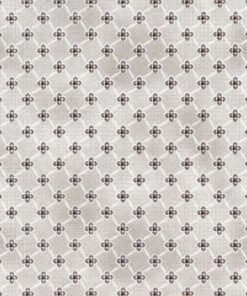 Grå med geometrisk mønster