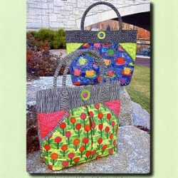 Aunties Two Patterns West End Tote