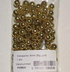 Guld Perler 8 mm