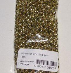 Guld Perler 5 mm