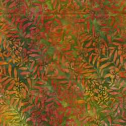 Grøn med gul brændt Bali/Batik