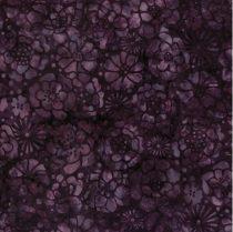 Mørklilla m. blomst Bali/Batik