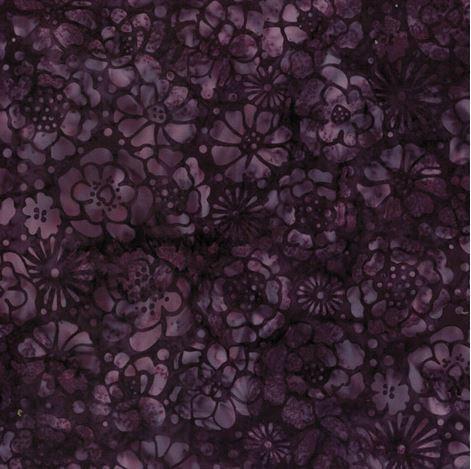 7026 Mørklilla m. blomst Bali/Batik