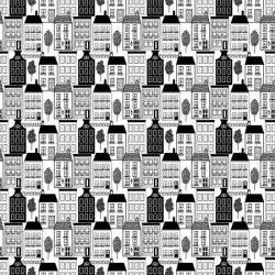 Huse i sort hvid