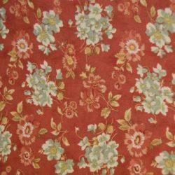 7089 Rød m. blomster