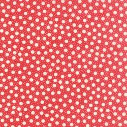 Rød med prikker
