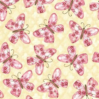 7124 Creme med sommerfugle