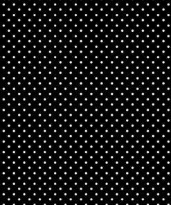 Sort med små hvide prikker