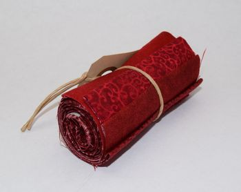 Rød stofrulle - 5 stk. 8 x 55 cm