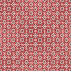 Rød med geometrisk mønster