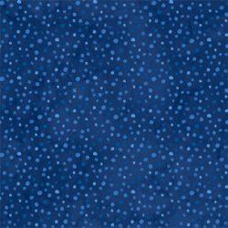 Mørkblå med prikker
