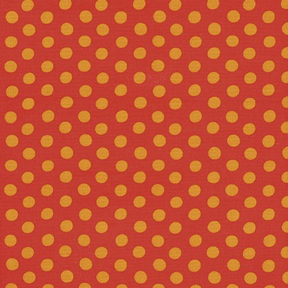 7177 Orange med prikker - Kaffe Fassett