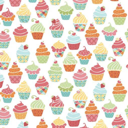7188 - Hvid med cupcakes