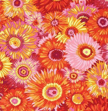 7193 - Orange/Pink blomster