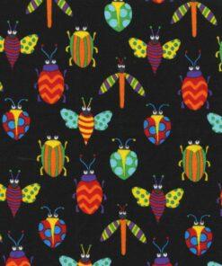 7186 - Insekter på sort bund