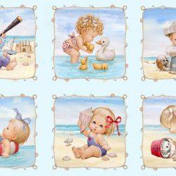 Panel med Børn på stranden