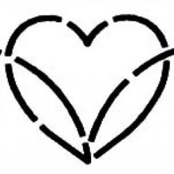 Quilteskabelon - Dancing Hearts
