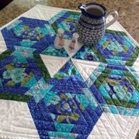 CLPDKR008 Hexagons in Paradise Table Topper mønster