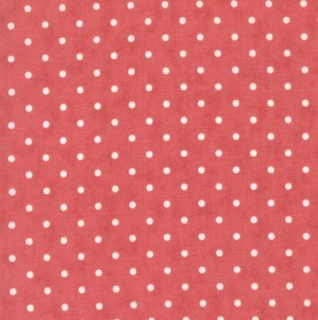 7212 Rød med hvide prikker