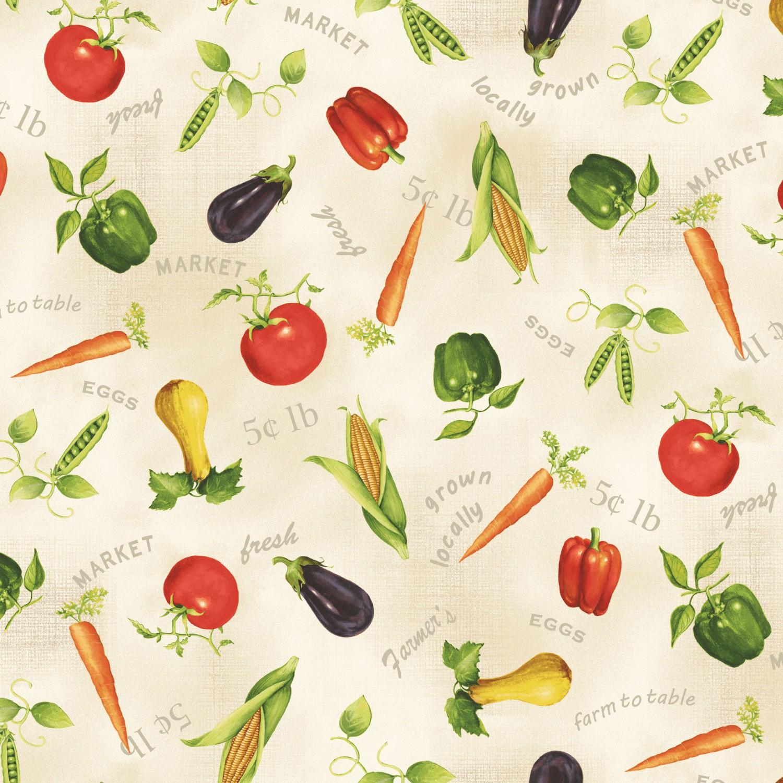 7219 Beige med grøntsager