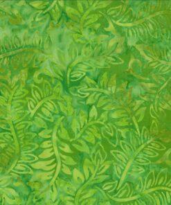 7224 Limegrøn med blade i bali batik