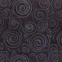 7225 Sort med grå snegle bali batik