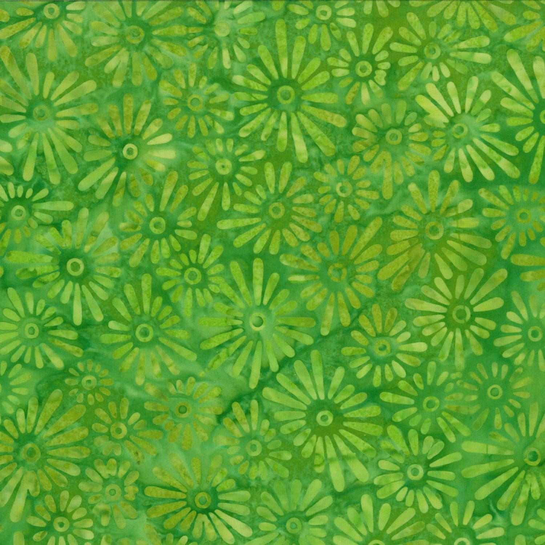 7226 Grøn med blomster bali batik