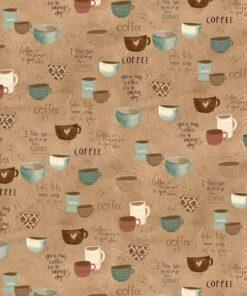 7230 Lysebrun med kaffekopper