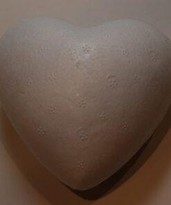 Hjerte 8 cm Styropor