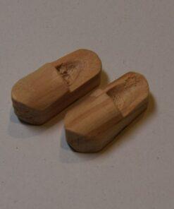 2 cm Træsko - 4 par