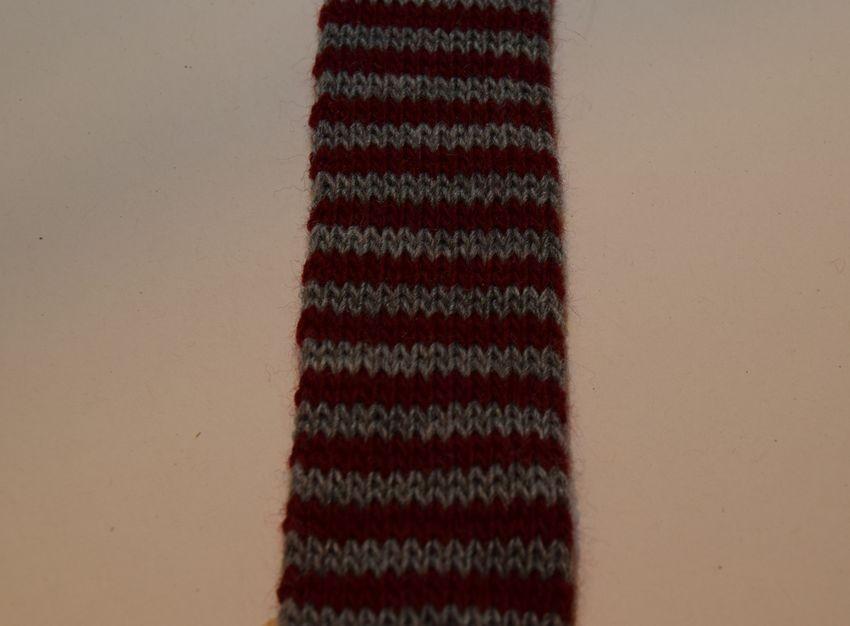 Gl. Rød/Grå Tubestrik 3 cm